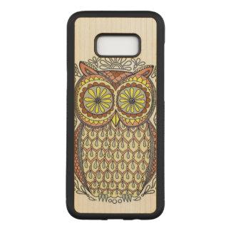 Capa Carved Para Samsung Galaxy S8+ Ilustração colorida da coruja