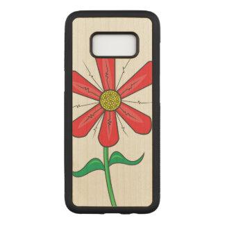 Capa Carved Para Samsung Galaxy S8 Ilustração da flor do verão