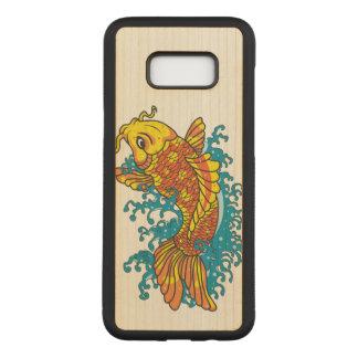 Capa Carved Para Samsung Galaxy S8+ Ilustração de Koi do peixe dourado