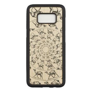 Capa Carved Para Samsung Galaxy S8 Ilustração de tinta preta do desenho do camelo na
