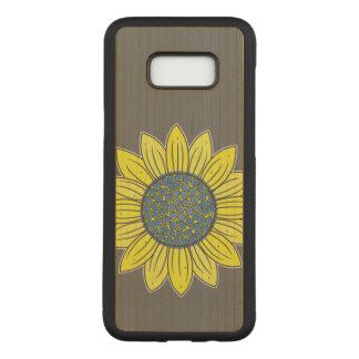 Capa Carved Para Samsung Galaxy S8+ Ilustração do girassol
