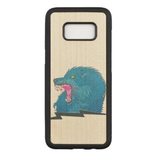 Capa Carved Para Samsung Galaxy S8 Ilustração do lobo
