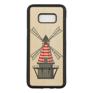 Capa Carved Para Samsung Galaxy S8+ Ilustração do moinho de vento