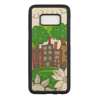 Capa Carved Para Samsung Galaxy S8 Ilustração pequena da cidade