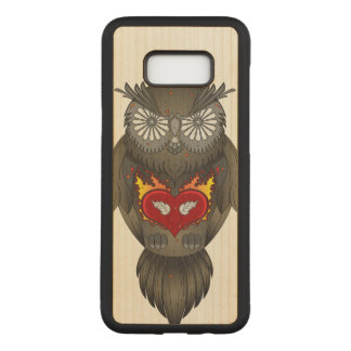 Capa Carved Para Samsung Galaxy S8+ Ilustração sábia da coruja