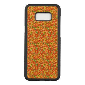 Capa Carved Para Samsung Galaxy S8+ Impressão bonito das flores do amor do amarelo