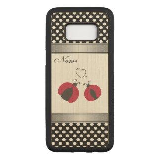 Capa Carved Para Samsung Galaxy S8 Joaninhas adoráveis nas bolinhas do amor