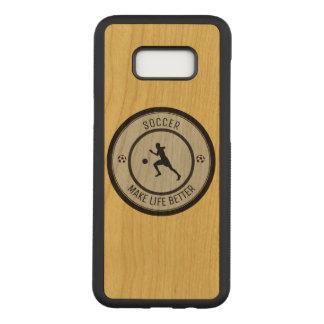 Capa Carved Para Samsung Galaxy S8+ Jogador de futebol