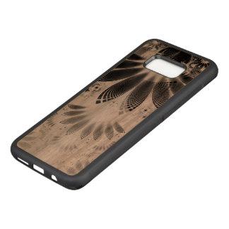 Capa Carved Para Samsung Galaxy S8+ Madeira bonita penas queimadas do Fractal