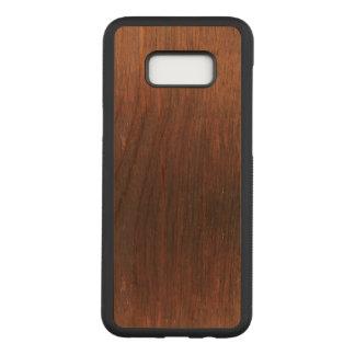 Capa Carved Para Samsung Galaxy S8+ Madeira de Brown escuro sobre