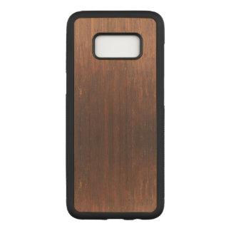 Capa Carved Para Samsung Galaxy S8 Madeira de Brown escuro sobre