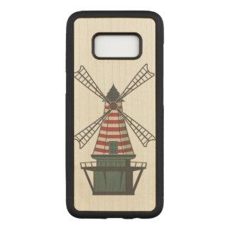 Capa Carved Para Samsung Galaxy S8 Moinho de vento colorido