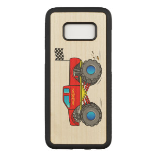 Capa Carved Para Samsung Galaxy S8 Monster truck