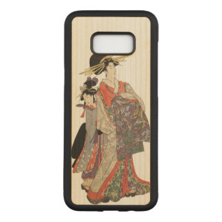 Capa Carved Para Samsung Galaxy S8+ Mulher no quimono colorido (impressão do japonês