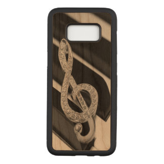 Capa Carved Para Samsung Galaxy S8 Música Gclef