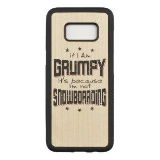Capa Carved Para Samsung Galaxy S8 Não SNOWBOARDING MAL-HUMORADA (preto)