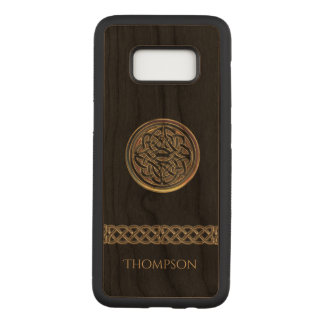 Capa Carved Para Samsung Galaxy S8 Nó celta de bronze personalizado