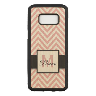 Capa Carved Para Samsung Galaxy S8 Nome cor-de-rosa coral personalizado feminino do