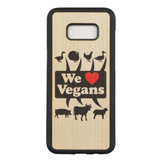 Capa Carved Para Samsung Galaxy S8+ Nós amamos Vegans II (o preto)