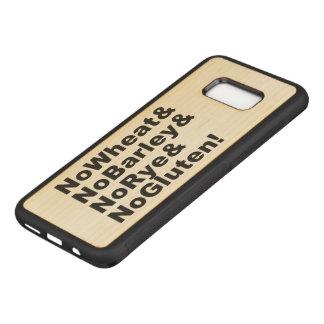 Capa Carved Para Samsung Galaxy S8+ NoWheat&NoBarley&NoRye&NoGluten! (preto)