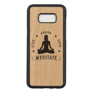 Capa Carved Para Samsung Galaxy S8+ O amor vivo do riso Meditate o texto fêmea (o