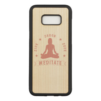 Capa Carved Para Samsung Galaxy S8+ O amor vivo do riso Meditate texto fêmea (o rosa)