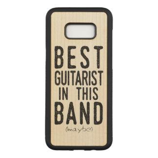 Capa Carved Para Samsung Galaxy S8+ O melhor guitarrista (talvez) (preto)