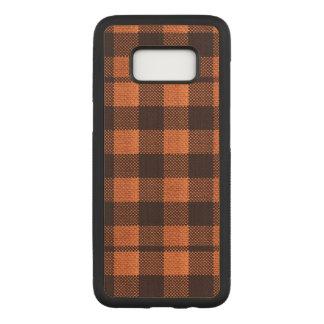 Capa Carved Para Samsung Galaxy S8 Olhar Checkered de serapilheira do teste padrão do
