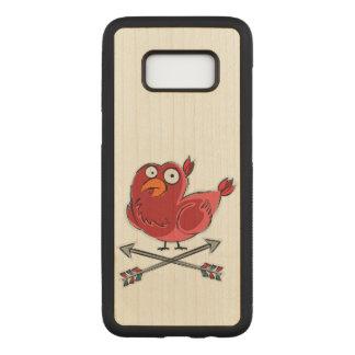 Capa Carved Para Samsung Galaxy S8 Pássaro colorido