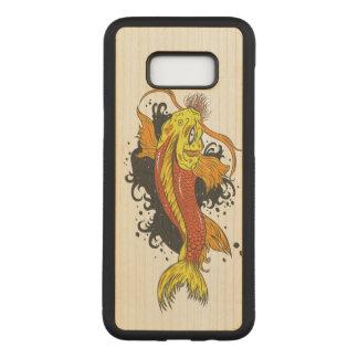 Capa Carved Para Samsung Galaxy S8+ Peixe dourado colorido Koi