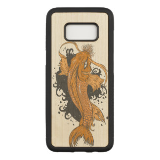 Capa Carved Para Samsung Galaxy S8 Peixes de Koi do japonês