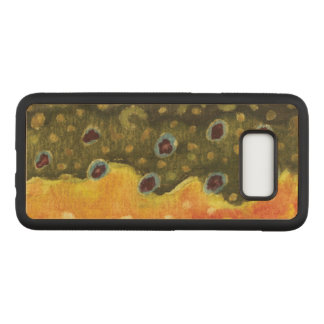 Capa Carved Para Samsung Galaxy S8 Pele da truta de Brown - pesca, ictiologia