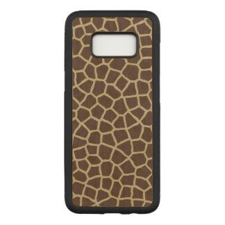 Capa Carved Para Samsung Galaxy S8 Pele do girafa