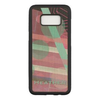 Capa Carved Para Samsung Galaxy S8 Personalizado/rosa & design de turquesa/abstrato