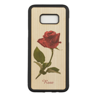 Capa Carved Para Samsung Galaxy S8+ Personalize: Escolha a fotografia floral da rosa