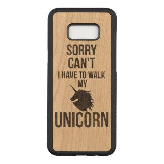Capa Carved Para Samsung Galaxy S8+ Pesaroso não posso eu ter que andar meu unicórnio