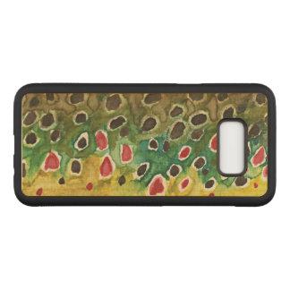 Capa Carved Para Samsung Galaxy S8+ Pesca com mosca da pele da truta de Brown do