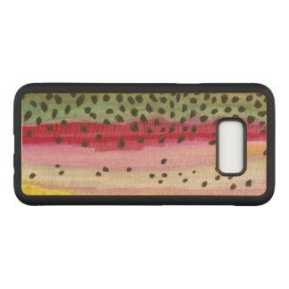 Capa Carved Para Samsung Galaxy S8+ Pesca da pele da truta de arco-íris