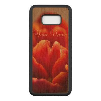Capa Carved Para Samsung Galaxy S8+ Pétalas vermelhas bonito da tulipa. Adicione seu