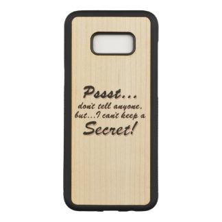 Capa Carved Para Samsung Galaxy S8+ Pssst… eu não posso manter um SECRETO (o preto)