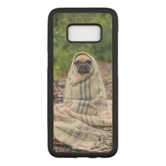 Capa Carved Para Samsung Galaxy S8 Pug em uma cobertura