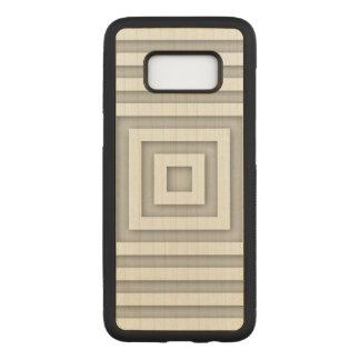 Capa Carved Para Samsung Galaxy S8 Quadrado branco geométrico