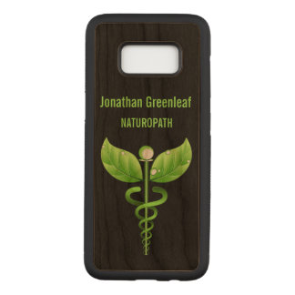 Capa Carved Para Samsung Galaxy S8 Símbolo médico alternativo de Medicin do Caduceus