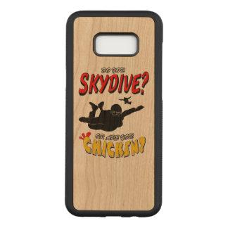 Capa Carved Para Samsung Galaxy S8+ Skydive ou galinha? (preto)