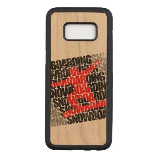 Capa Carved Para Samsung Galaxy S8 Snowboarding #1 (preto)