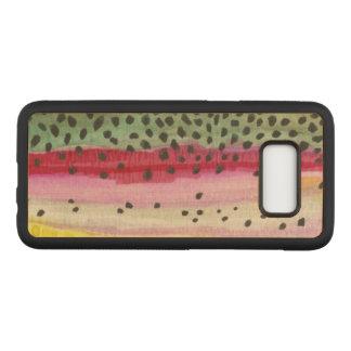 Capa Carved Para Samsung Galaxy S8 Somente a pele da truta de arco-íris bonita