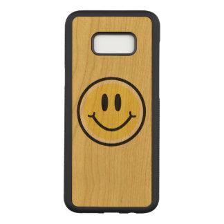 Capa Carved Para Samsung Galaxy S8+ Sorriso amarelo