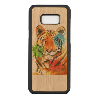 Capa Carved Para Samsung Galaxy S8+ Splatter do tigre