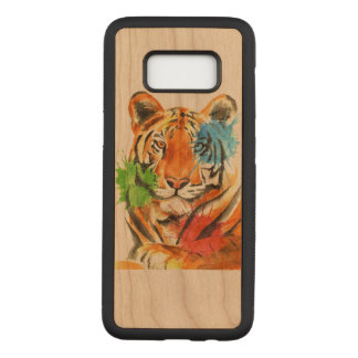 Capa Carved Para Samsung Galaxy S8 Splatter do tigre