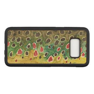 Capa Carved Para Samsung Galaxy S8 Truta de Brown para pescadores e Ichthyologists da